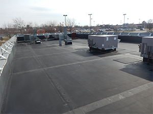 EPDM material applied on a commercial rooftop