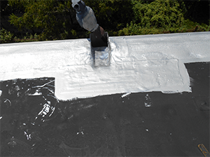 Roof repair on a commercial roof